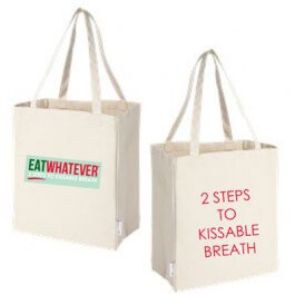 EATWHATEVER® Eco Tote Bag. Made of 100% Recycled Cotton